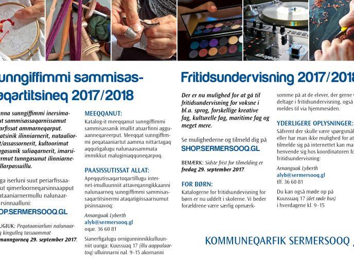 Fritidsundervisning 2017/2018