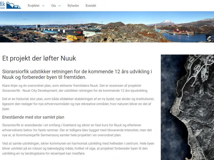 Læs om byudviklingen af Nuuk