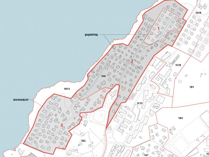 Kommunimut pilersaarummut tapiliussatut 1A6-3 Qaqortoq & Avannarliit Nuuk siunnersuut                 pillugu