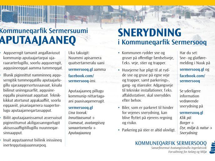 Snerydning i Kommuneqarfik Sermersooq