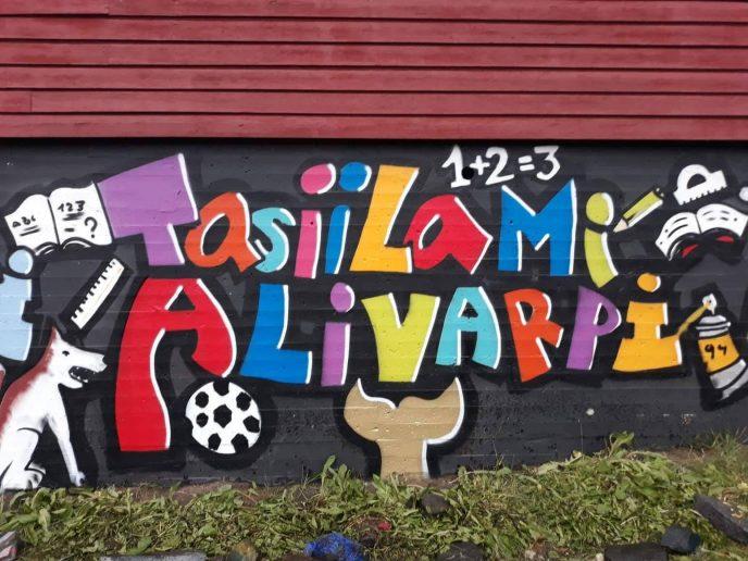 Fokus på graffiti i Tasiilaq