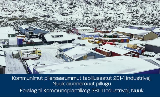 Kommunimut pilersaarummut tapiliussatut 2B1-1 Industrivej, Nuuk siunnersuut pillugu