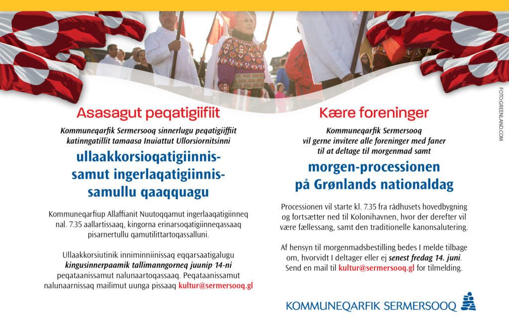 Morgen-processionen på Grønlands nationaldag