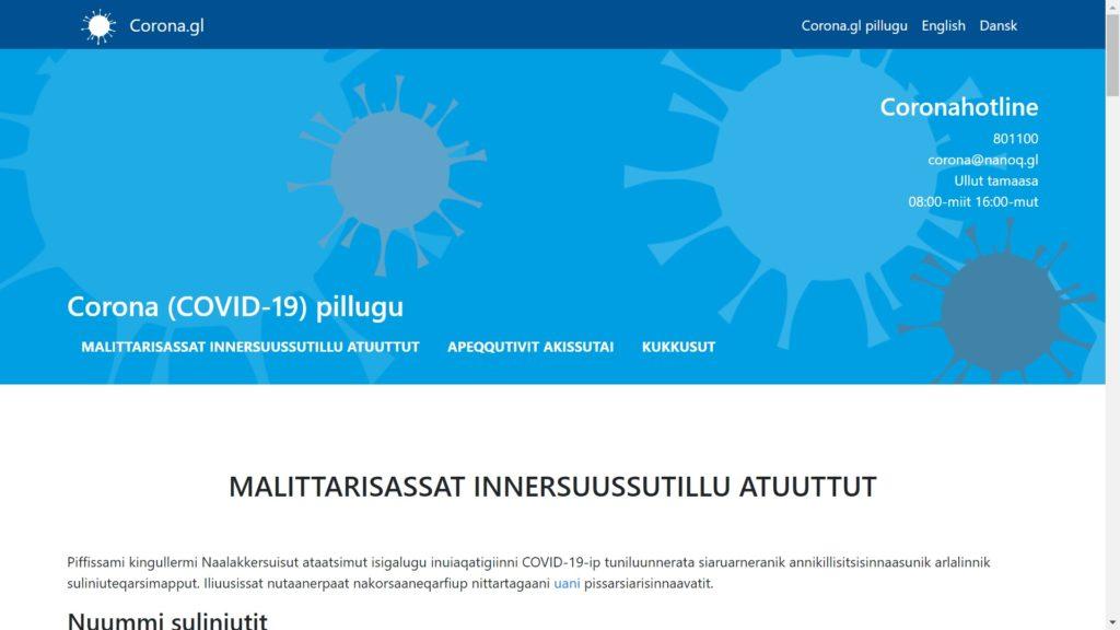 COVID-19 pillugu paasissutissiisarnissamut nittartagaq nutaaq atulerpoq