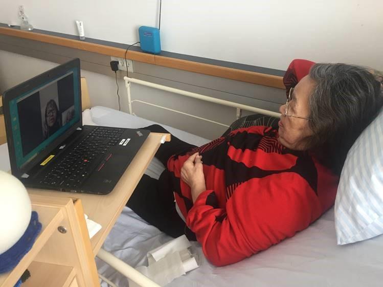 Facetime skaber glæde blandt ældre