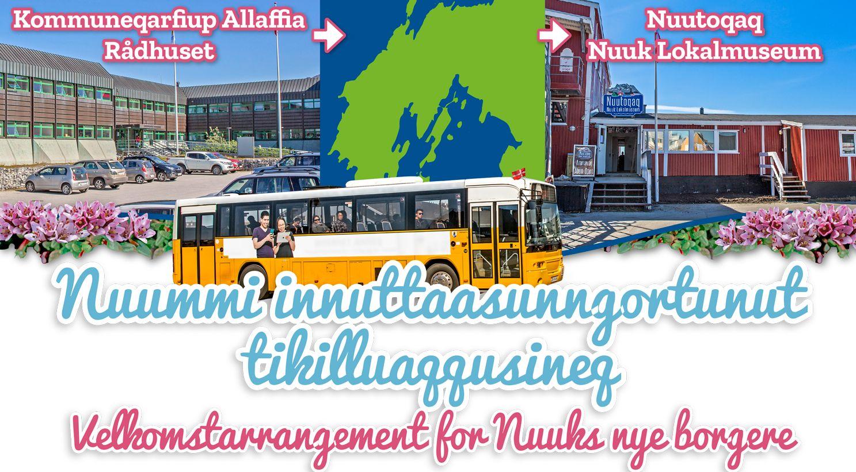 Kommuneqarfik Sermersooq byder nyankomne borgere i Nuuk velkommen
