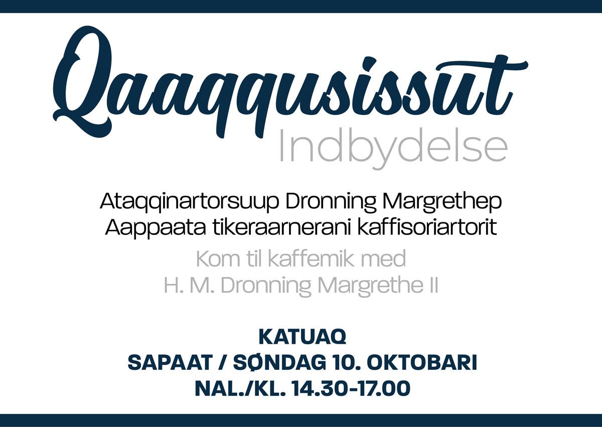 Kom til kaffemik med H. M. Dronning Margrethe II