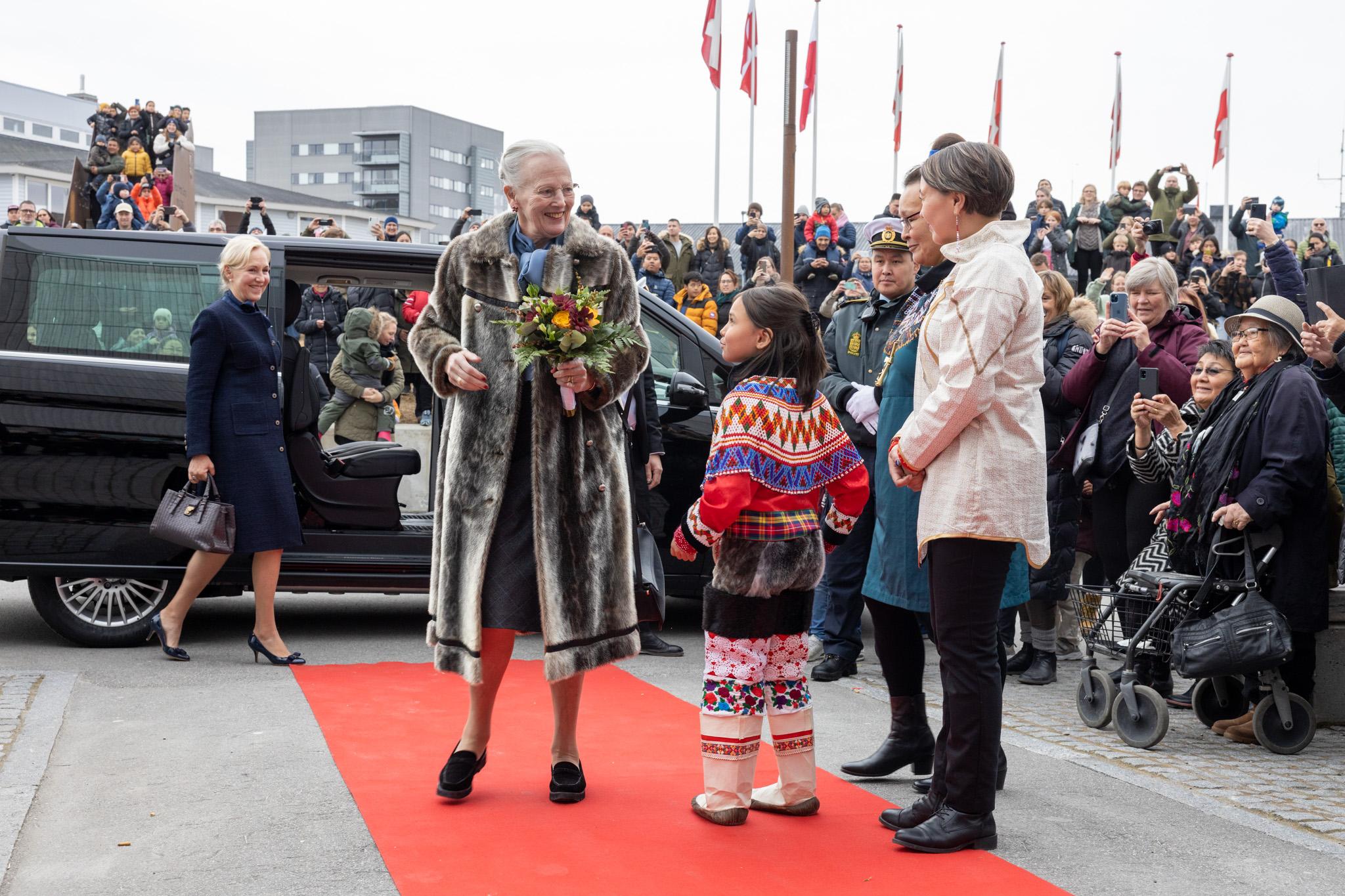 Kommuneqarfik Sermersooq modtog Hendes Majestæt Dronningen